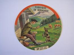 Etiquette De Fromage FABRIQUE EN NORMANDIE 50% 60-B7 - Cheese