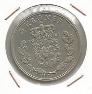 Monnaie , Danmark, Danemark, 1961  , 5 Kroner , Frederik IX Konge Af Danmark, 2 Scans , Frais Fr 1.65 E - Danemark