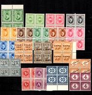 Egypte Belle Petite Collection De Service, Franchise Et Taxe Tous En Blocs De 4 Neufs **/* 1907/1940. B/TB. A Saisir! - Officials