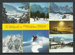 Austria Österreich Ansichtskarte WALCHSEE Wintersportort Tirol Mit Briefmarke - Austria