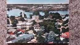 CPSM ABIDJAN PLATEAU ET BAIE DE COCODY VUE AERIENNE ED ESTEL - Costa De Marfil