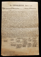 July 4,1776,The UNANIMOUS DECLARATION Of The THIRTEEN UNITED STATES OF AMERICA-Authors-THOMAS JEFFERSON (PO2-11) - Décrets & Lois