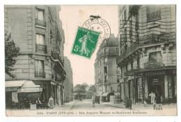 22778   CPA  PARIS  : Rue Auguste Maquet Et Boulevard Exelmans ! 1913!! Belle Carte Moins Courante ! - District 16