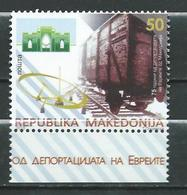 Macedonia 2018 - The 75th Ann. Of Deportation Of Jews From Macedonia MNH. Railways - Skopje,Stip,Bitola. Museum - Macedonia