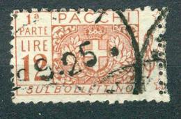 BM Italien Paketmarke 1921 - MiNr 17 [1922] Linke Seite - Used - Wappen Und Wertziffer - Paketmarken