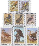 Sambia 528-535 (complete.issue.) Unmounted Mint / Never Hinged 1990 Birds - Zambia (1965-...)