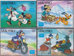 Lesotho 589-592 (complete.issue.) Unmounted Mint / Never Hinged 1986 Stamp Exhibition - Lesotho (1966-...)