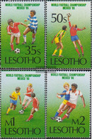 Lesotho 565-568 (complete.issue.) Unmounted Mint / Never Hinged 1986 Football WM Mexico - Lesotho (1966-...)