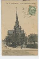 PARIS - XVIIIème Arrondissement - L'Eglise Saint Bernard Et Le Square - Distretto: 18