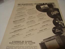 ANCIENNE PUBLICITE DISQUES PATHE 1941 - Musique & Instruments