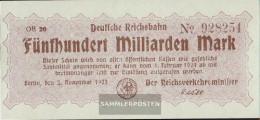 Berlin Pick-number: S1026 Inflationsgeld The German Reichsbahn Berlin Uncirculated 1923 500 Billion Mark - [11] Local Banknote Issues