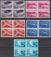 Lichtenstein 1958 MiNr.381 - 385 4er Blocks ** Postfr. Landschaften ( 670a ) Günstige Versandkosten - Liechtenstein