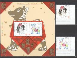 QQ332 2018 AITUTAKI ASTROLOGY YEAR OF THE DOG ANIMALS & FAUNA 1SET+1BL MNH - Astrologie
