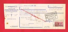 1 Lettre De Change & VILLENAUXE F TESSIER Manufacture De Porcelaine Terre Cuite Fayences - Bills Of Exchange
