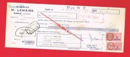 1 Lettre De Change & SABLE M LEMAIRE Marbrerie - Bills Of Exchange