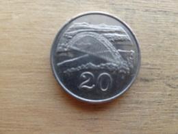 Zimbabwe  20  Cents  1997  Km 4 - Zimbabwe