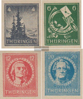 Soviet Zone (Allied.cast.) 103t-106t (complete Issue) Unmounted Mint / Never Hinged 1945 Christmas - Soviet Zone