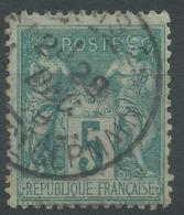 Lot N°44872   N°75, Oblit Cachet à Date De PARIS.25 (Bd St GERMAIN) - 1876-1898 Sage (Type II)