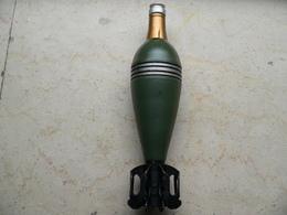 Obus De Mortier 60 Mm Francais Modéle 1935 Neutralisé - Armes Neutralisées