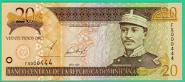 20 Pesos - République Dominicaine - 2002 - N°FX000444 - Neuf - - República Dominicana