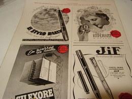 ANCIENNE PUBLICITE STYLO RALLY - INTERIM - SILEXORE - JIF POUR LES PRISONNIER 1943 - Other