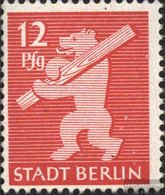 Soviet Zone (Allied.cast.) 5AA Wb X Tested Unmounted Mint / Never Hinged 1945 Berlin Bear - Soviet Zone