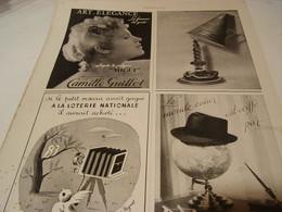 ANCIENNE PUBLICITE SCHIAPARELLI -GUILLOT -LOTERIE -MOSSANT 1943 - Other