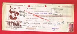 1 Lettre De Change & LIMOGES  Manufacture De Chaussures HEYRAUD 39 Avenue Garibaldi - Bills Of Exchange