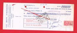 1 Lettre De Change & ROSPORDEN Finistère LE ROY FRERES Manufacture De Chaussures - Cambiali