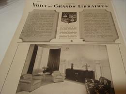 ANCIENNE PUBLICITE VOICI LES GRANDS LIBRAIRES 1942 - Other