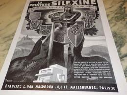 ANCIENNE PUBLICITE PEINTURE SILEXINE  1939 - Other Collections