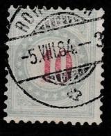 Switserland, Helvetia 1883 Taxe. Vert-bleu Yvert 16.  Nice Cancellation. - Strafportzegels