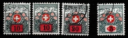 Switserland, Helvetia 1924 Taxe. Yvert T52/54 +t51 Gestempeld - Strafportzegels