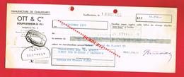 1 Lettre De Change & SOUFFLENHEIM Bas Rhin OTT Et Cie Manufacture De Chaussures - Bills Of Exchange