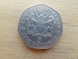 Kenya  5  Shillings  1985  Km 23 - Kenya