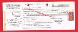 1 Lettre De Change & DETTWILLER Bas Rhin G VOGEL Fabrique De Chaussures - Bills Of Exchange