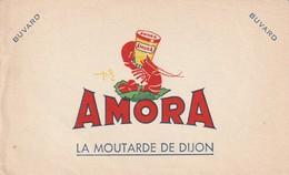 Rare Buvard Amora Moutarde De Dijon - Moutardes