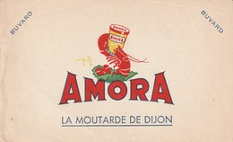 Rare Buvard Amora Moutarde De Dijon - Mostard