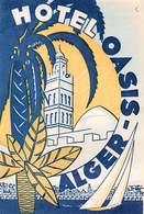 """D8535 """" HOTEL OASIS - ALGER"""" ETICHETTA ORIGINALE - ORIGINAL LABEL - Hotel Labels"""