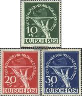 Berlin (West) 68-70 (complete Issue) Unmounted Mint / Never Hinged 1949 Währungsgeschädigte - Unused Stamps