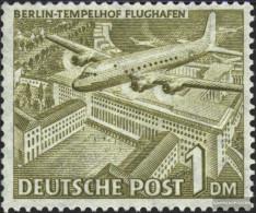 Berlin (West) 57a X, Falling Watermark Unmounted Mint / Never Hinged 1949 Berlin Buildings - Neufs