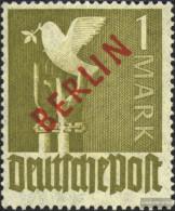 Berlin (West) 33 Unmounted Mint / Never Hinged 1949 Rotaufdruck - Unused Stamps
