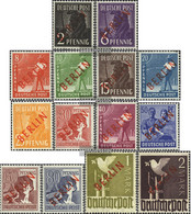 Berlin (West) Mi.-number.: 21-34 (complete Issue) Tested With Attest Unmounted Mint / Never Hinged 1949 Rotaufdruck - Unused Stamps