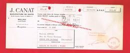 1 Lettre De Change & MILLAU Aveyron J CANAT Manufacture De Gants - Bills Of Exchange