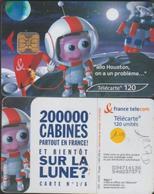F1257D TÉLÉCARTE 120 U  SUR La LUNE 2003/04   PUCE OB2 - France