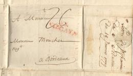 Marque SS VIZCAYA De San Sébastien Du 18/01/1779 Pour Bordeaux  Taxe 26 - España