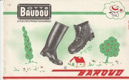 Rare Buvard Botte Baudou BAROUD - Scarpe
