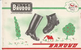 Rare Buvard Botte Baudou BAROUD - Chaussures