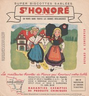Rare Buvard Biscottes St Honoré L'Alsace Et La Lorraine - Biscottes
