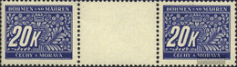 Bohemia And Moravia P14 Between Steg Couple Unmounted Mint / Never Hinged 1939 Postage Stamps - Bohemia & Moravia
